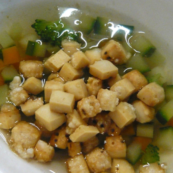 Crostini di parmigiano e verdure